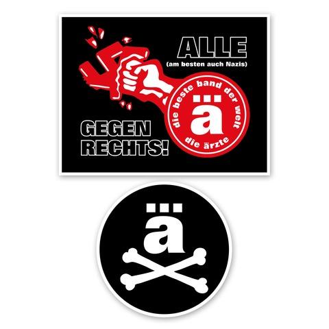 Logo Patch von die ärzte - Aufnäher 2er Set jetzt im die aerzte shop Shop